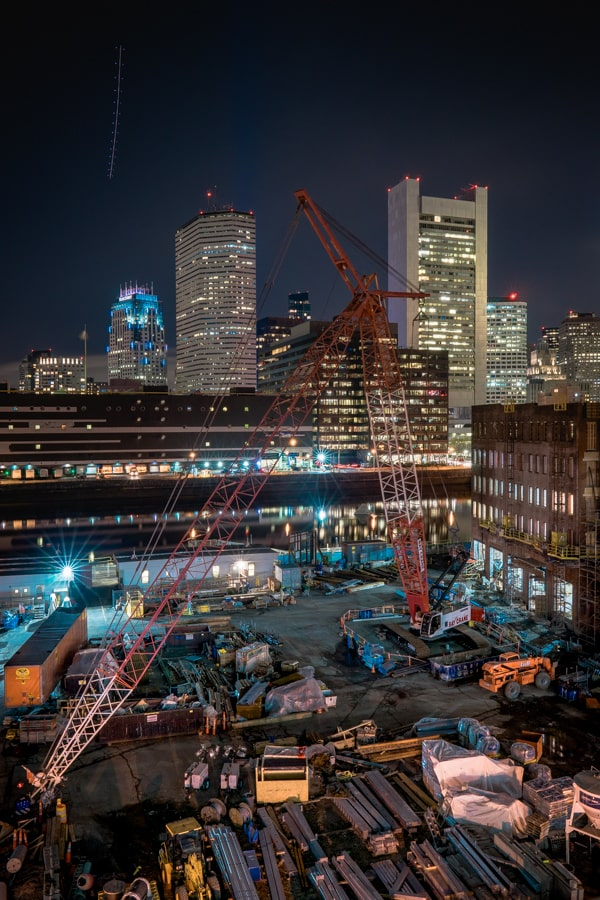 Boston Construction Long Exposure - Sarah Kozak Photography
