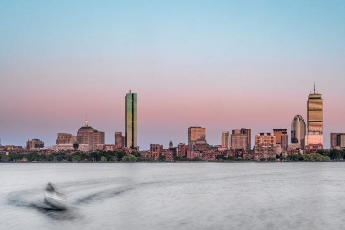 Boston Skyline from Cambridge - Urban - Sarah Kozak Photography