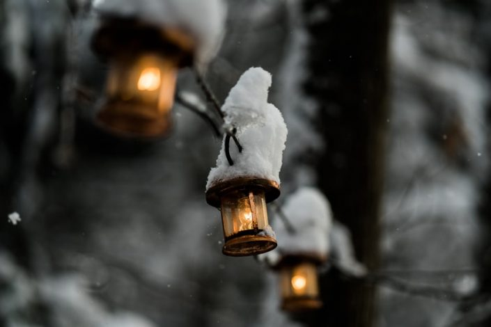 Winter Snowy Lights - Sarah Kozak Photography